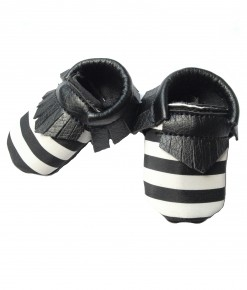 Baby Moccs - Black Stripe