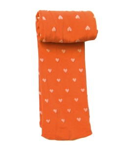 Heart Full Feet Stocking - Orange