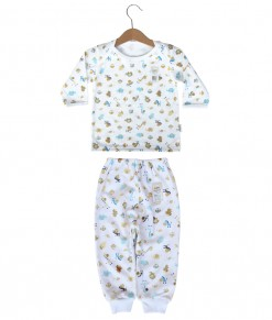 Long Tee Animal Set (2-12M) - White