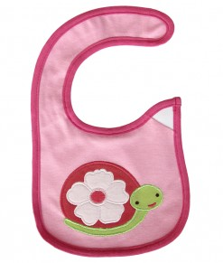Baby Bib - Flower Turtle