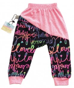 Two Tone Jogger Pant - Pink Neon