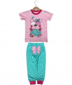 Bear Pink Turquoise Pajama