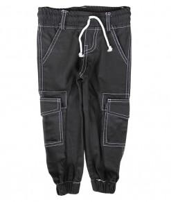 Zev Cargo Jogger Pant - Black White