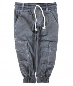 Zev Cargo Jogger Pant - Grey Denim
