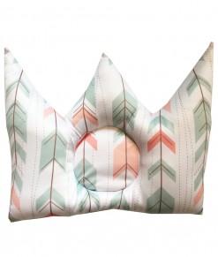 0402-33a-Crown Shape Infant Pillow - Pastel Arrow