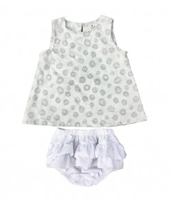 Grey Circlely Top+Bloomers